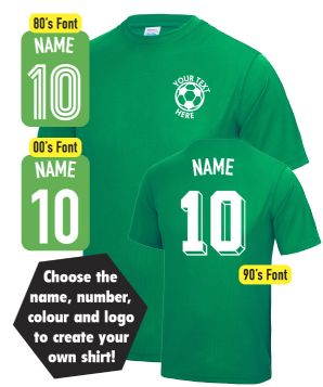 Custom Fancy Dress Personalised Football T Shirt